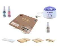 Depilatory Kit, Hot Wax, CHOCOLATE, without Waxing Strips, PREMIUM QUALITY, Hair Removal