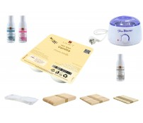 Depilatory Kit, Hot Wax, VANILLA, without Waxing Strips, PREMIUM QUALITY, Hair Removal