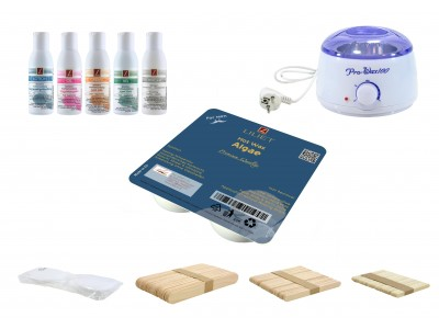 Depilatory Kit, Hot Wax, ALGAE, without Waxing Strips, PREMIUM QUALITY, Hair Removal