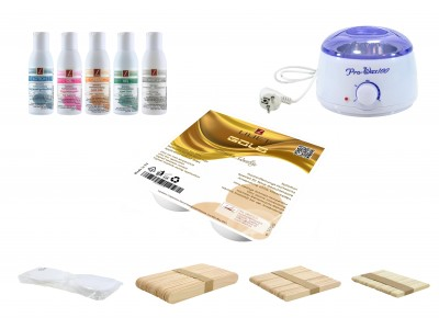 Depilatory Kit, Hot Wax, GOLD, without Waxing Strips, PREMIUM QUALITY, Hair Removal