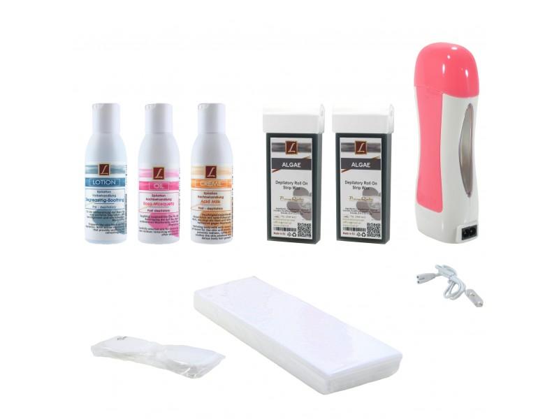 EpilationsSet: 2x WarmwachsPatronen ALGEN + Vorbahandlung + Nachbehandlung, Kosmetikpads, Wax, Kit