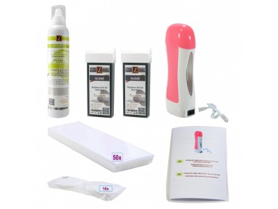 Depilatory Kit: 2x Strip wax Cartridges + Mousse, RollOn's, PREMIUM QUALITY, ALGAE