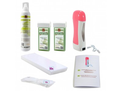EpilationsSet: 2x Warmwachs-Patronen + Mousse, Wachskartuschen, PREMIUM QUALITY, ALOE VERA, Wax, Kit
