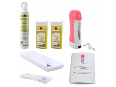 EpilationsSet: 2x Warmwachs-Patronen + Mousse, Wachskartuschen, PREMIUM QUALITY, LIMONE, Wax, Kit