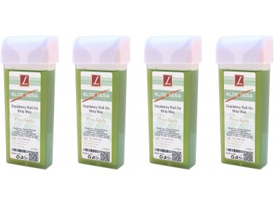 4x 100ml Warmwachs Patrone ALOE VERA, Premium Quality