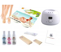 Depilatory Kit, Hot Wax, BRAZILIAN HONEY, without Waxing Strips, PREMIUM QUALITY, Hair Removal