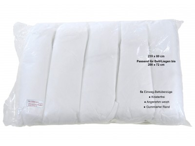 5x Disposable Lying duvet cover, rubberized area at the edge, Premium Quality