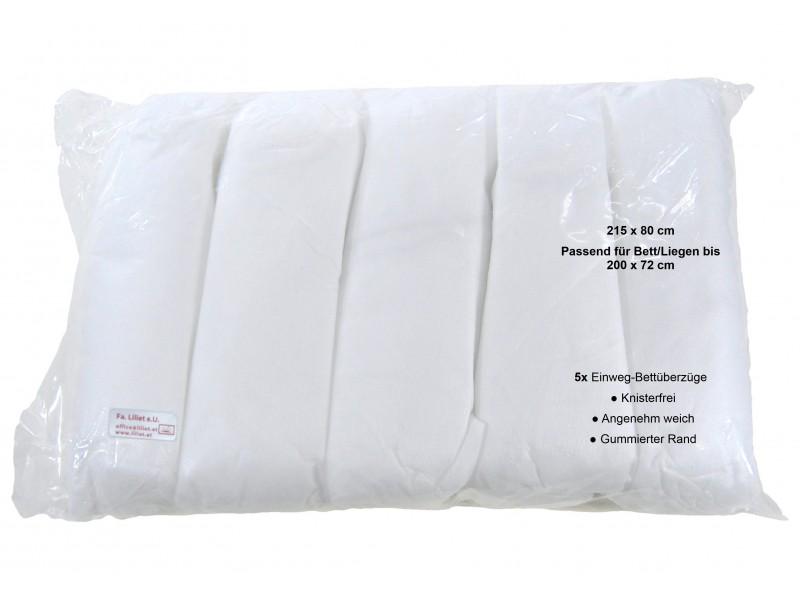 5x Einweg-Liegenauflage, Bettüberzug, gummierter Bereich am Rand, Premium Quality