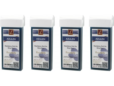 4x 100ml Warmwachs Patrone AZULENE, Premium Quality