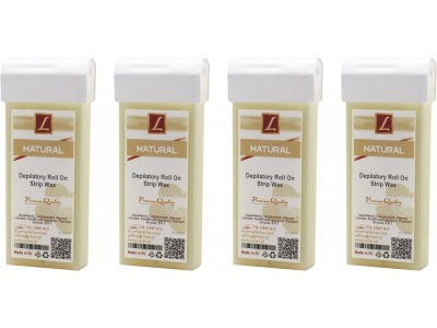 4x 100ml Warmwachs Patrone NATUR, Premium Quality