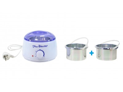Depilatory Wax Heater for Hot Wax + Extra pot, Insert(Model: Pro-Wax 100), 400ml