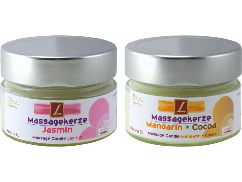 2x Massage-Kerzen,Massage Candle, PREMIUM QUALITY