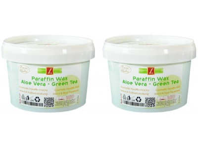 2x Paraffin Bad, Aloe Vera, Green Tea, PREMIUM QUALITY ( 2x 500ml )