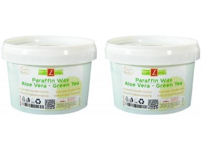 2x Paraffin Bad, Aloe Vera, Green Tea, PREMIUM QUALITY ( 2x 500ml )