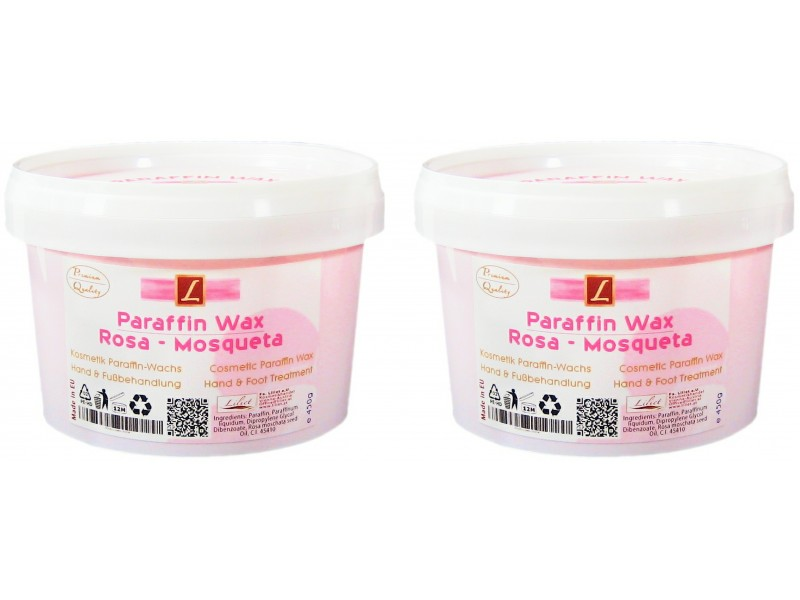 2x Paraffin Bad, Rosa Mosqueta, PREMIUM QUALITY ( 2x 500ml )