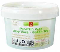 1x Paraffin Wachs Bad, Aloe Vera, Green Tea (1 x 500ml), PREMIUM QUALITY