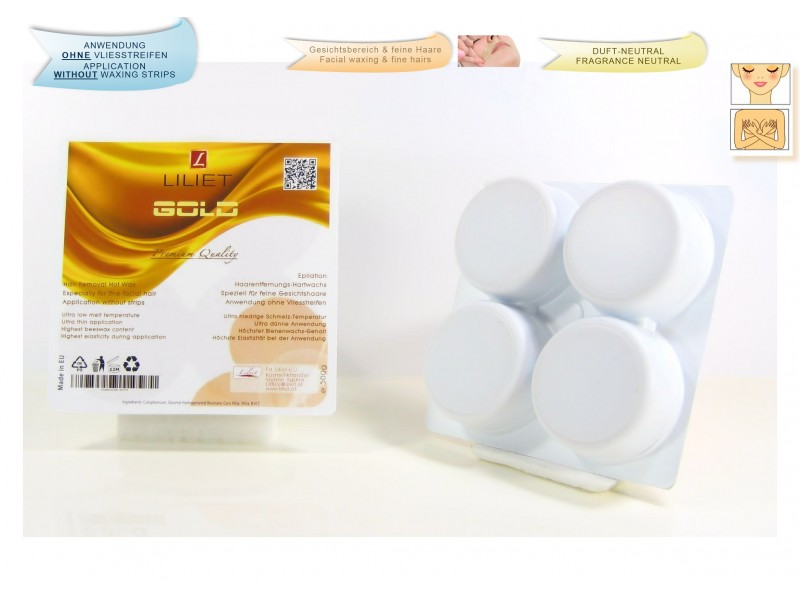 2x Depilatory Hot Wax, GOLD, for fine hairs  ( 2x 0,5kg )