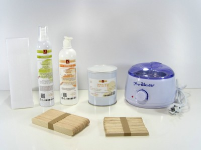 Set Epilation,Warmwachs, mit Vliesstreifen, PREMIUM QUALITY