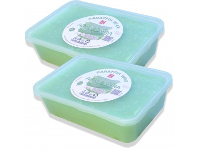 2x Paraffin Bath, Aloe Vera, PREMIUM QUALITY ( 2x 500ml )